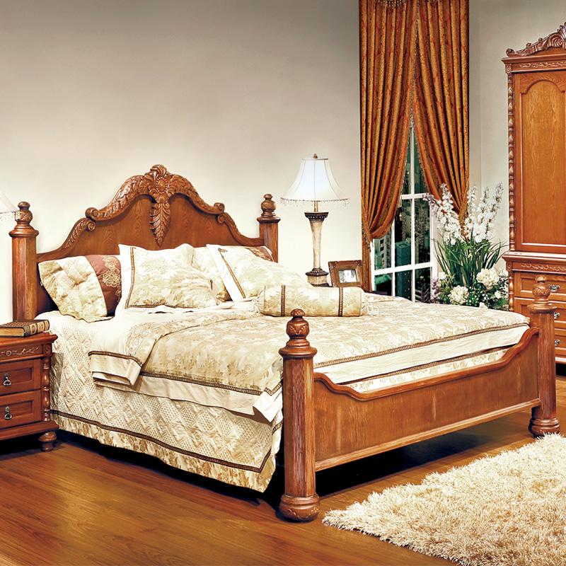 卡梅尔家具5602欧式新古典实木雕花床 欧式床 木制床