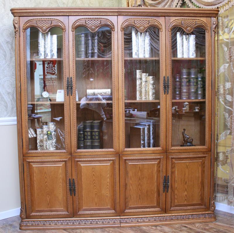 卡梅尔家具7009书柜 欧式实木书柜 古典雕刻书柜 木制