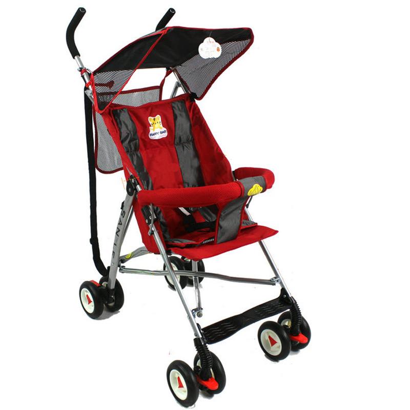 三乐婴儿伞车 轻便儿童手推车 易折叠婴儿手推车 红色