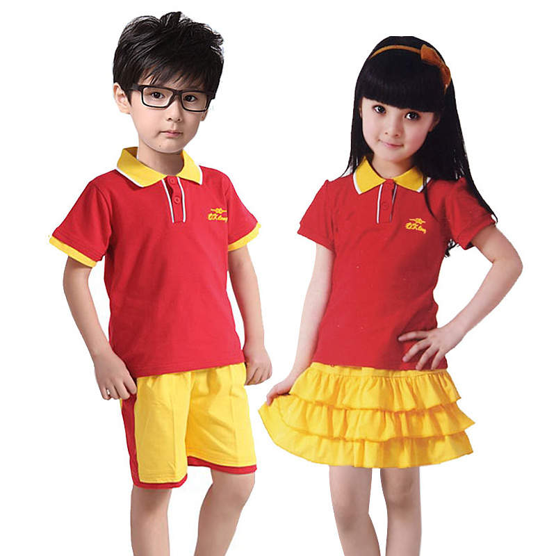 璐卡贝比14夏季男童小学生校服中学生 女童演出服幼儿