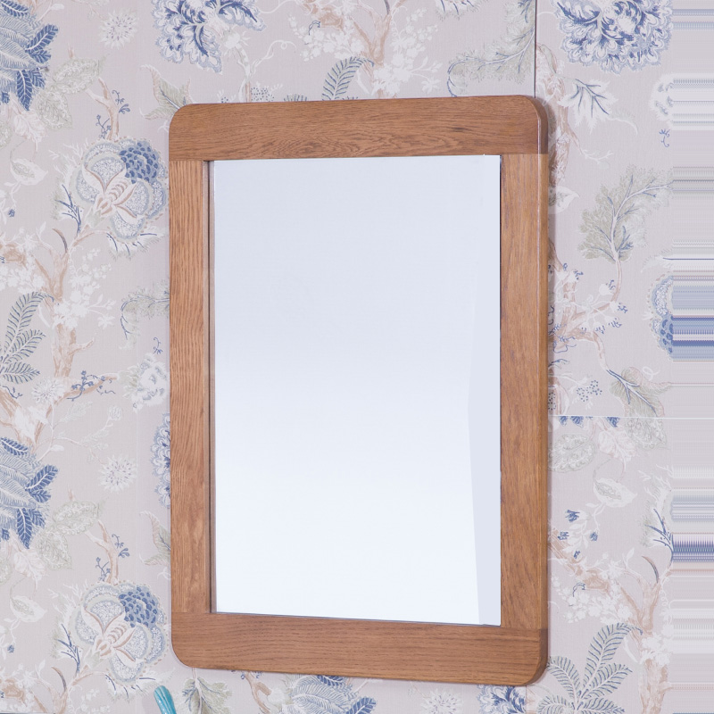 斗柜镜浴室欧式装饰镜子 进口白橡 纯实木边框 大穿衣镜