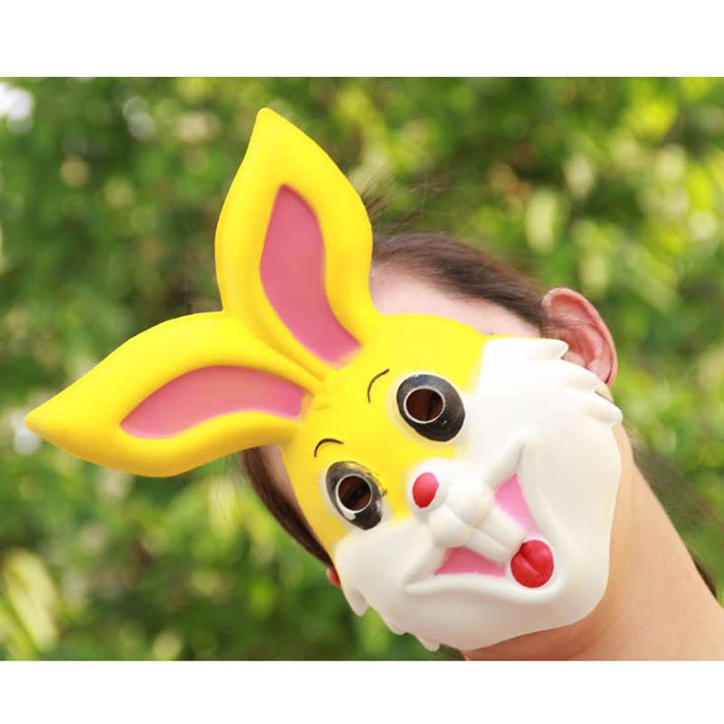 六一儿童节礼物 动物面具 头套 兔子面具 eva材质 小白兔面具