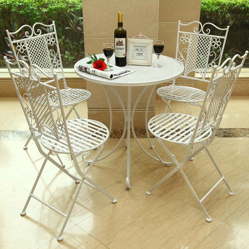 型爵xingjue 欧式铁艺纯手工休闲桌椅 户外桌椅 休闲茶几(一桌四椅)xj图片