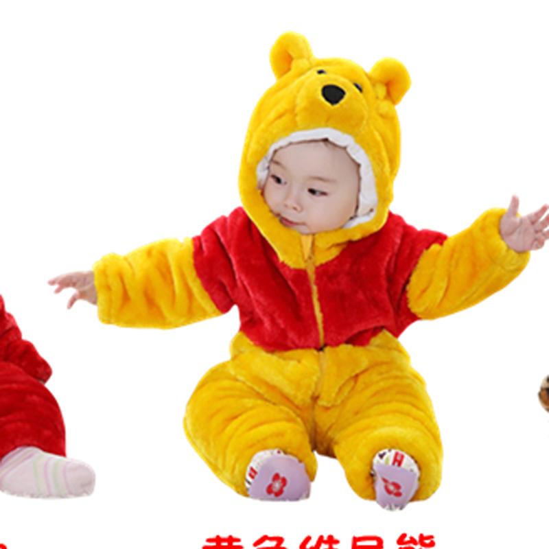 奇乐兔 婴儿服装冬装1-3岁宝宝连体衣动物造型哈衣百日宝宝拍照服装爬