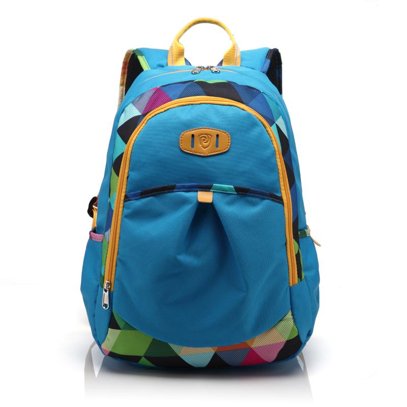 潘顿书包中学生可爱清纯双肩背包pd-3028天蓝色 深蓝色