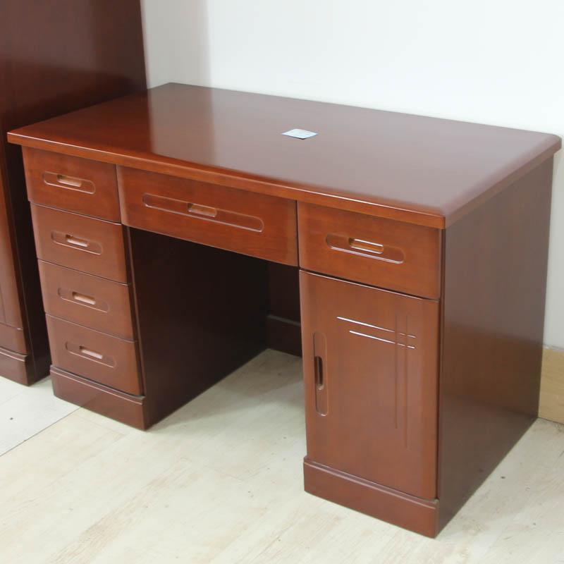 爱绿居 新中式实木书桌写字台 jm写字台 沙比利色图片