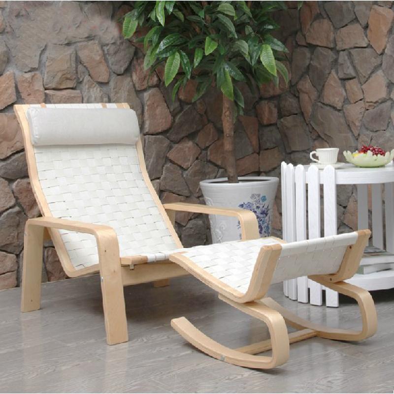 青岛一木家具 实木客厅 沙滩躺椅 休闲椅0001 宜家简约风 沙滩椅 送