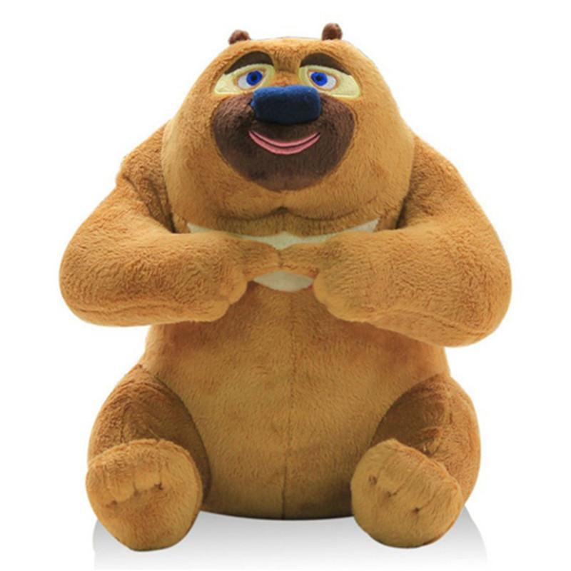 熊出没卡通毛绒玩具公仔 光头强 熊大 熊二 松鼠蹦蹦毛绒娃娃 熊二