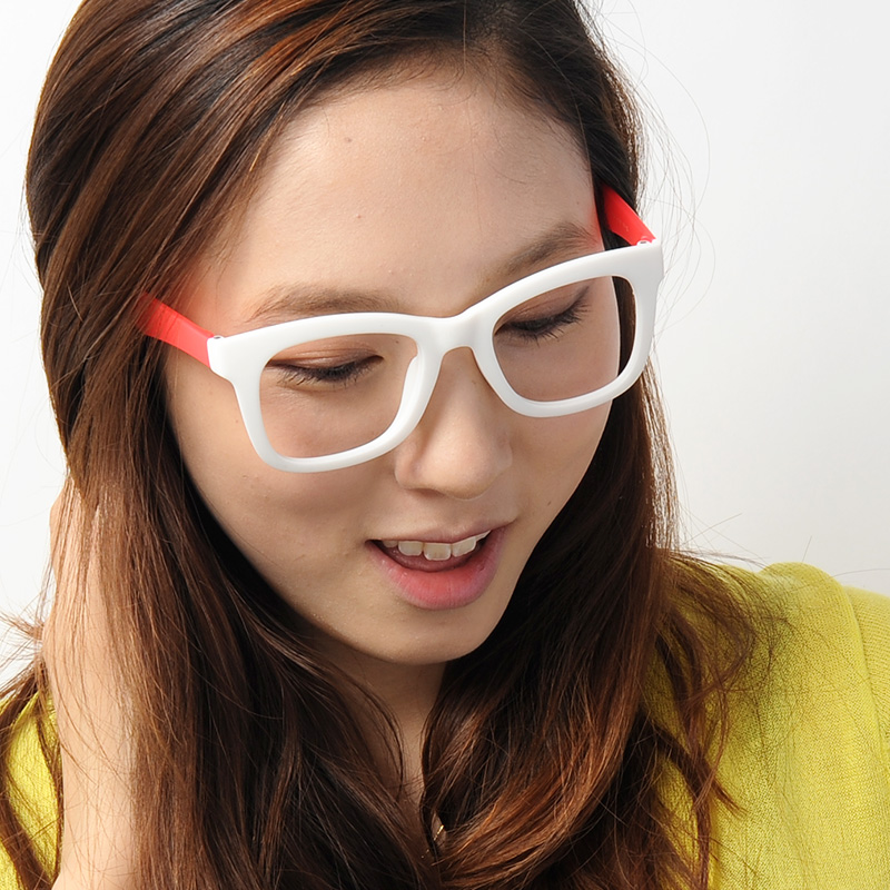 wilson太阳镜男女通用眼镜镜架时尚复古镜框韩国进口多色5760 tr90 白