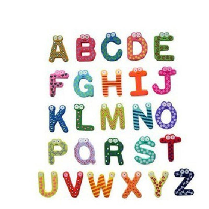 淘乐士木质卡通字母冰箱贴 创意家电贴留言贴磁吸照片