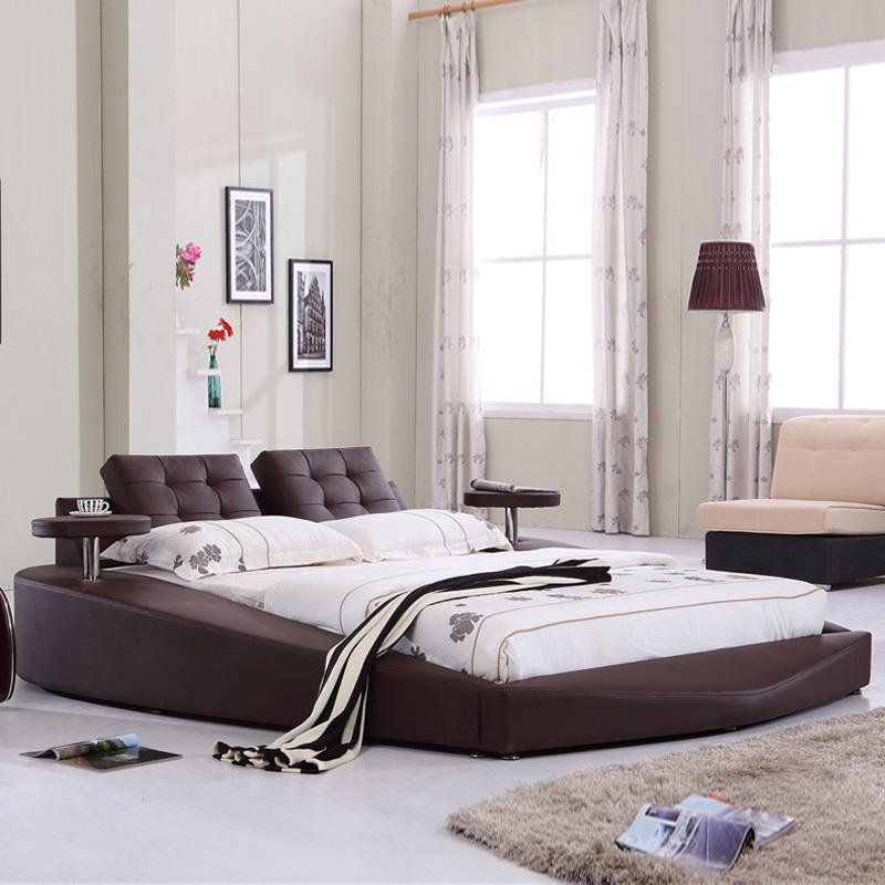 可里米奥 欧式真皮床软床 1.8米1.5m双人床婚床榻榻米图片