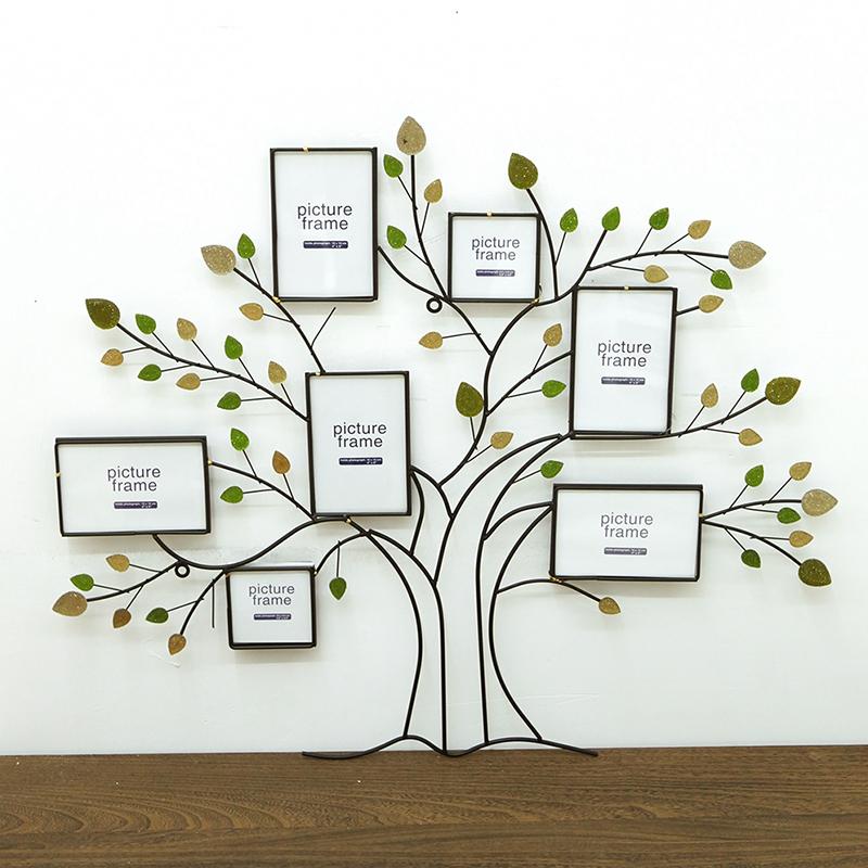 优贝家 照片墙 欧式现代风格乡村树墙饰装饰 手工铁艺图片
