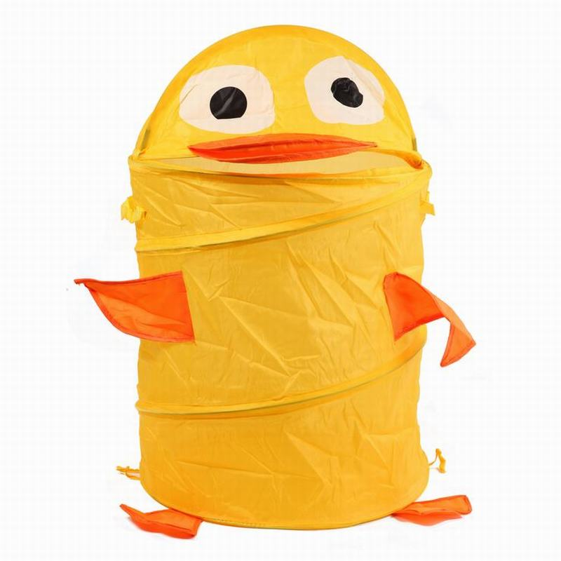 动物造型可折叠衣物收纳桶黄色小鸭