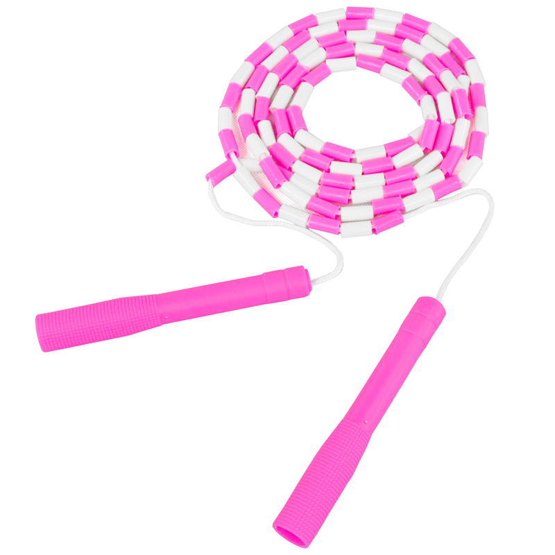 sengka花样跳绳 细竹节跳绳 专业跳绳 训练减肥 瘦腰锻炼 玫红色图片