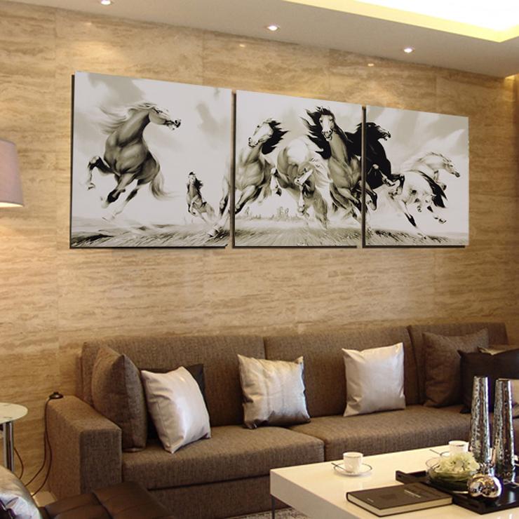 客厅装饰画壁画客厅现代无框画墙画冰晶画水晶画挂画玄关餐厅画一套价
