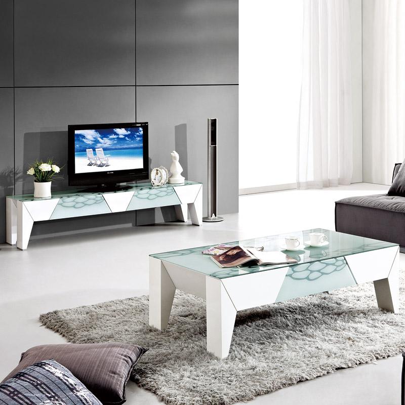 周家庄 板式家具 客厅茶几电视柜 时尚创意玻璃茶几现代简约 1102图片