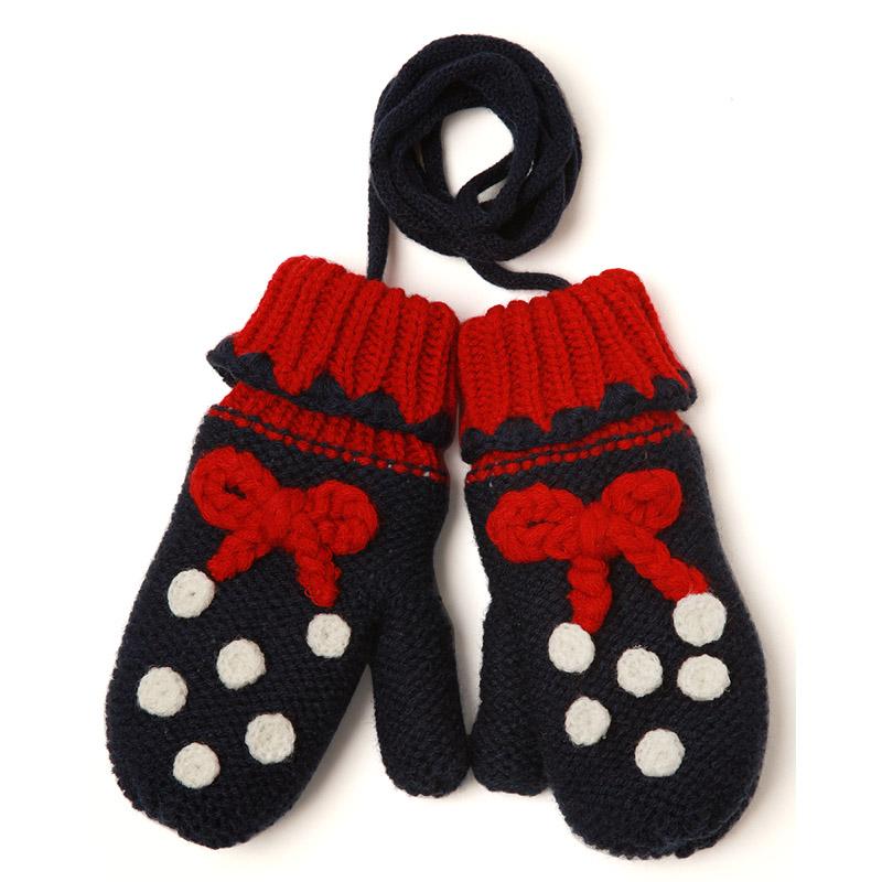 韩国kocotree婴儿毛线儿童手套秋冬款潮版可爱女童