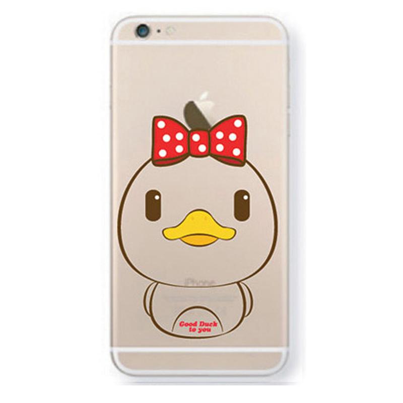 araree 大黄鸭可爱手机壳手机套 苹果6透明软壳 适用于iphone6/plus