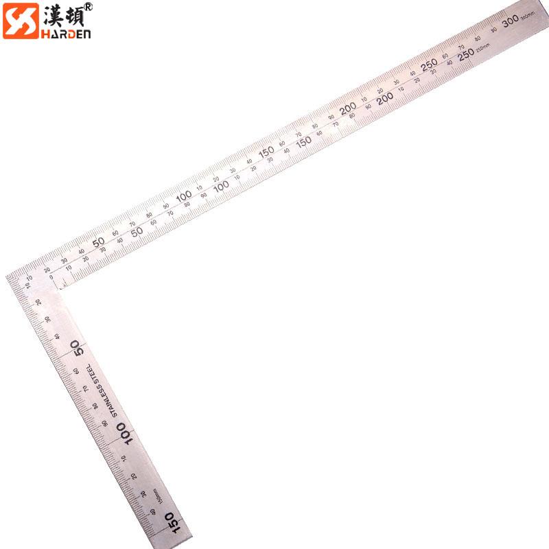 汉顿工具 方直尺 角尺 拐尺 钢尺 测量尺 木工装修不锈钢板角尺 150x