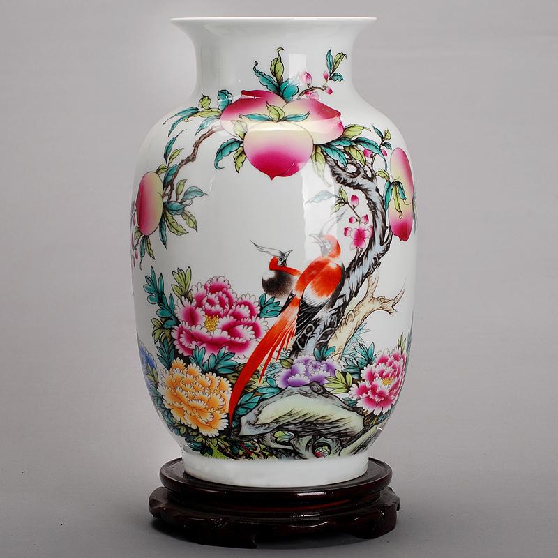 景德镇瓷器客厅陶瓷花瓶现代时尚白色摆件 家居摆设装饰 富贵长寿冬瓜