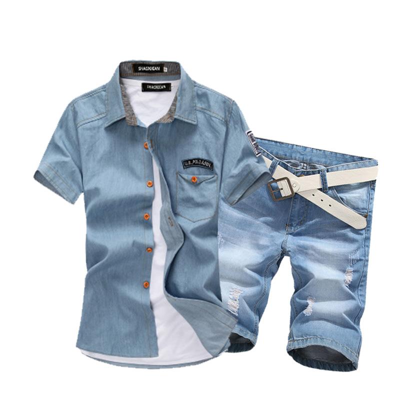 男士牛仔裤和短袖衬衫怎么搭配