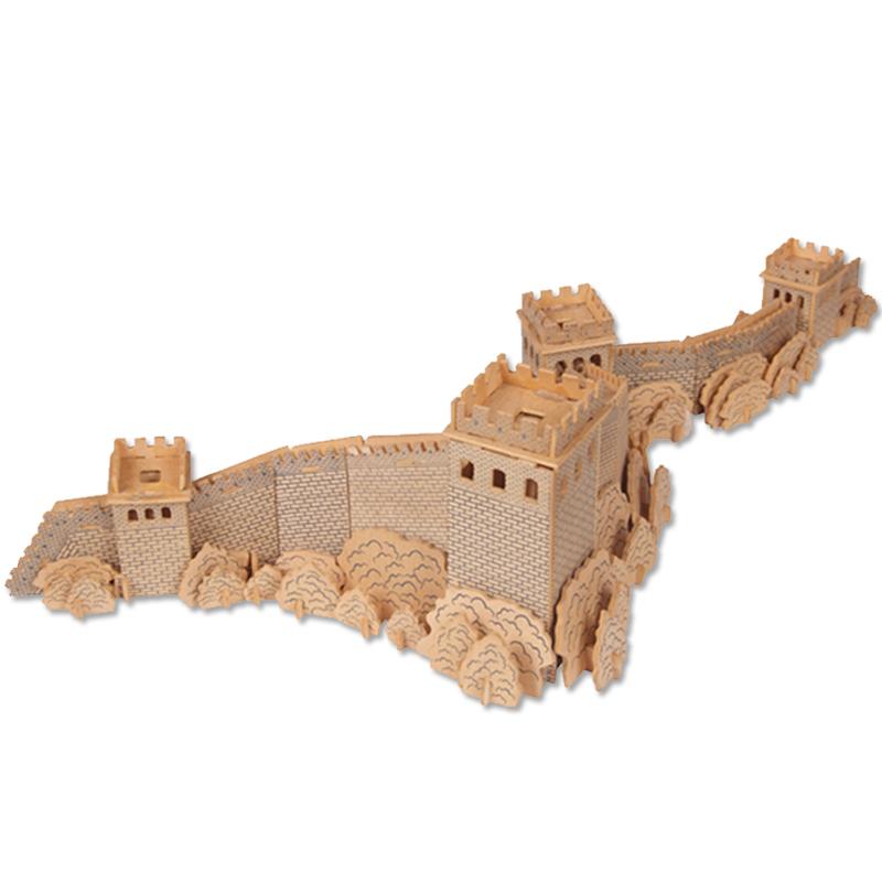 3d手工立体拼图木质diy木制拼图模型益智儿童成人积木