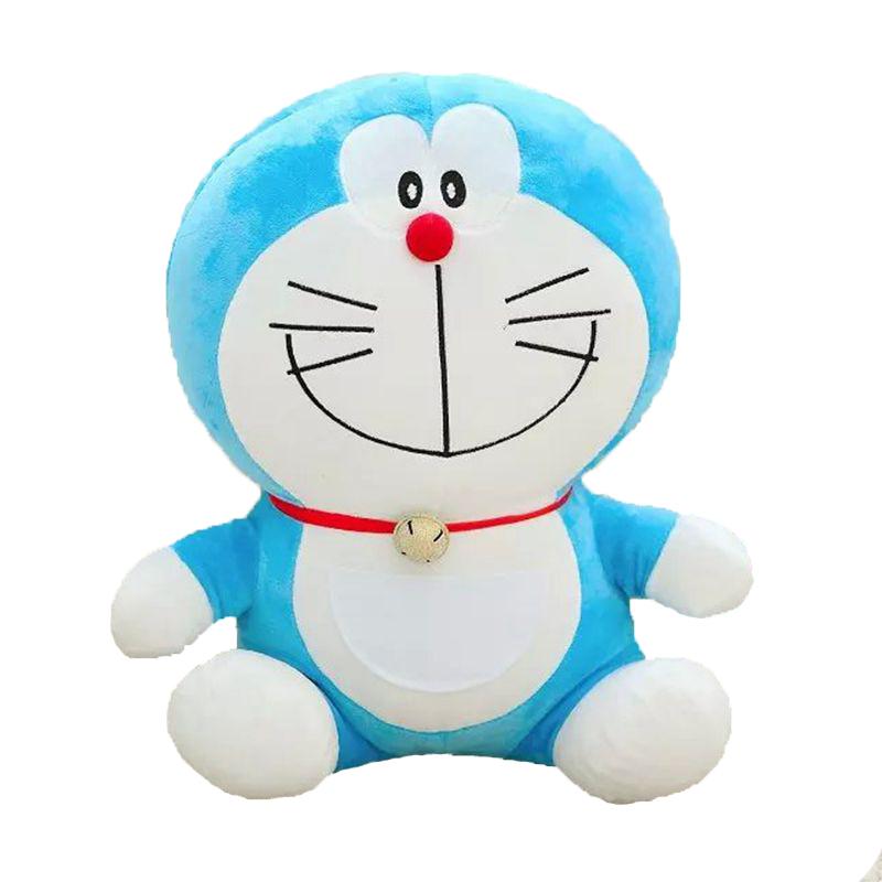 哆啦a梦公仔毛绒玩具机器猫抱枕布娃娃生日礼物女儿童节礼物 微笑叮当