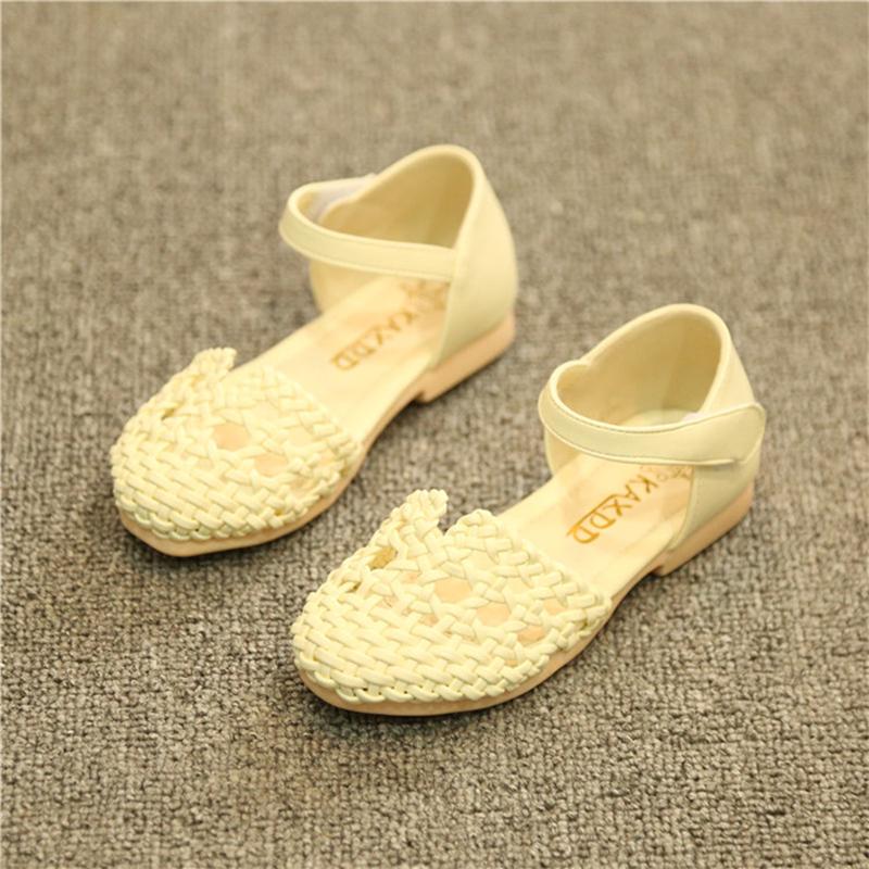 2015夏季编织绳女童凉鞋儿童凉鞋小女孩公主凉鞋可爱时尚童鞋 白色 25