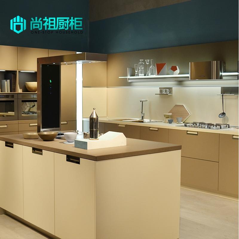 尚祖厨柜 定制厨房柜简易厨柜现代风格 金属烤漆整体定做sz001