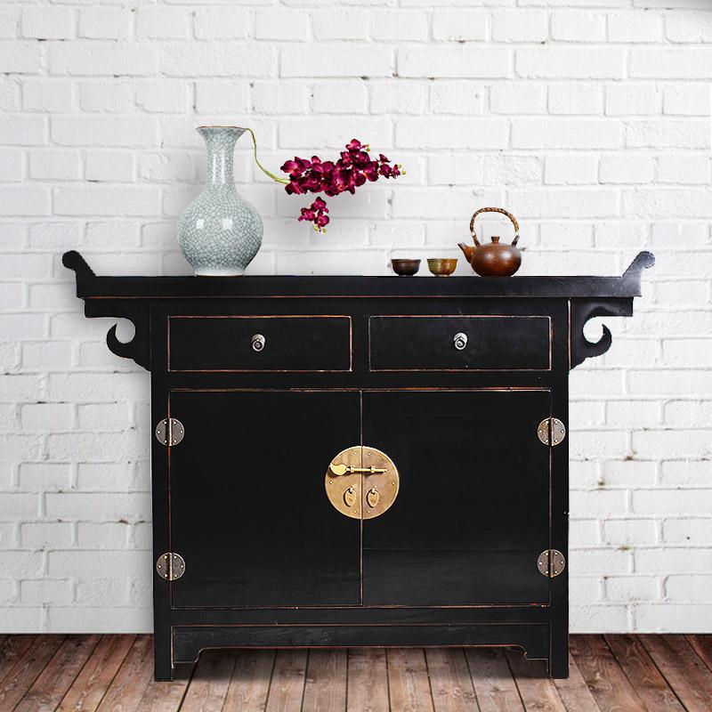 吉祥家 新中式储物柜 端仪 全实木家具收纳柜 定制台盆玄关装饰柜图片
