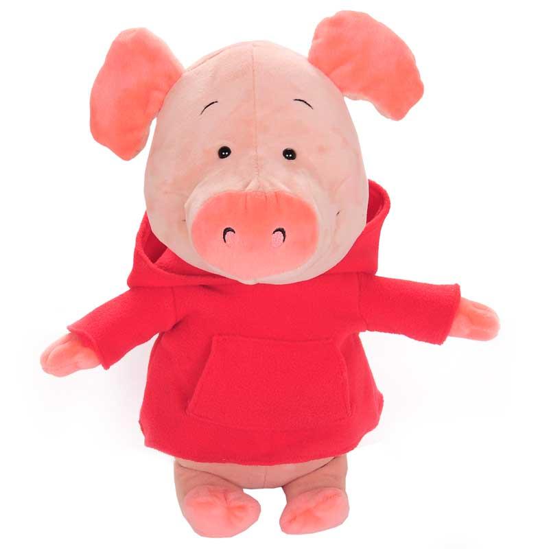 小鼠乐乐 小猪威比公仔毛绒玩具 送女生 生日礼物 小猪威比红衣 约