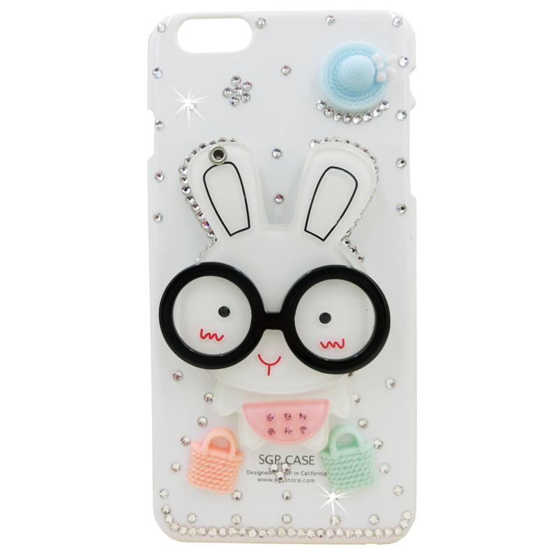 摩洛 镜子手机透明壳可爱卡通棒棒糖大眼熊 适用于oppo r3/r7007/r