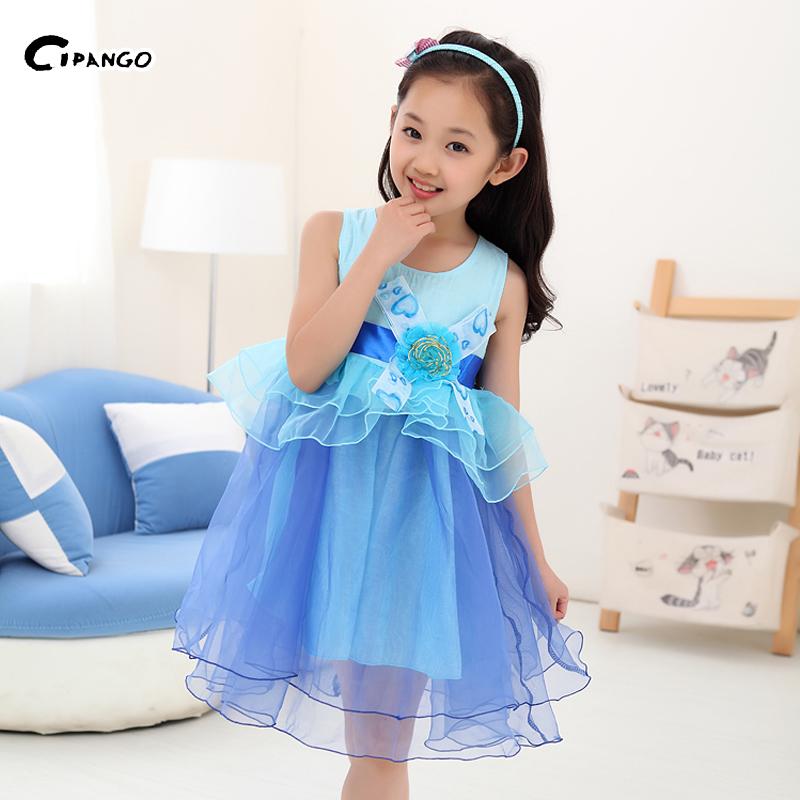 女童2015春装夏装新款韩版儿童蕾丝欧根纱公主裙裙子图片