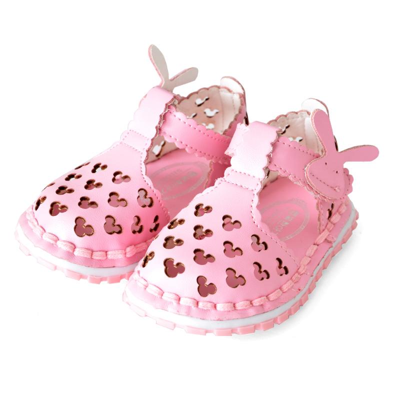 夏季童鞋女宝宝鞋子婴儿学步鞋女童防滑凉鞋包头鞋夏