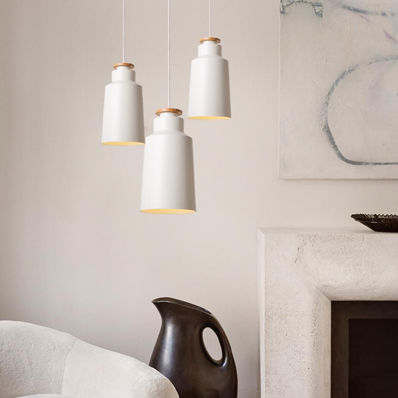 北欧时尚卧室三头黑白色简约灯饰 15-d1010a-wh 含5w节能灯泡1枚-黄光