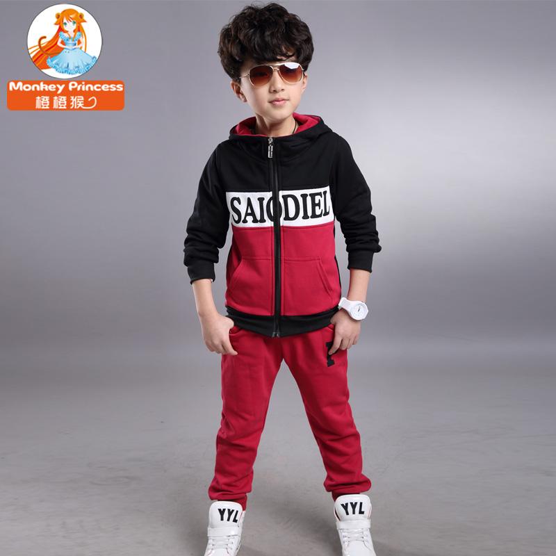 童_男童套装童装春装2015新款春装套装儿童韩版休闲三件套中大童男装套装