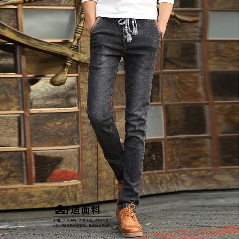 丹杰仕牛仔裤 春款男士牛仔裤男韩版修身直筒绳子牛仔裤子 男 8167 28