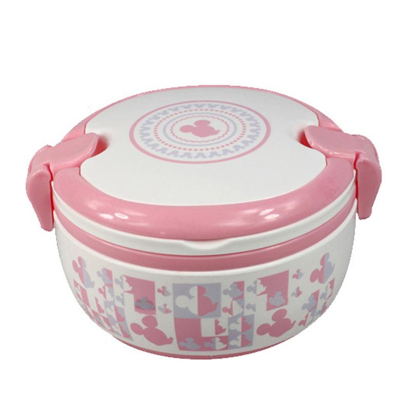 专柜正品迪士尼儿童饭盒学生便当盒韩版米奇大容量分隔午餐盒密封盒
