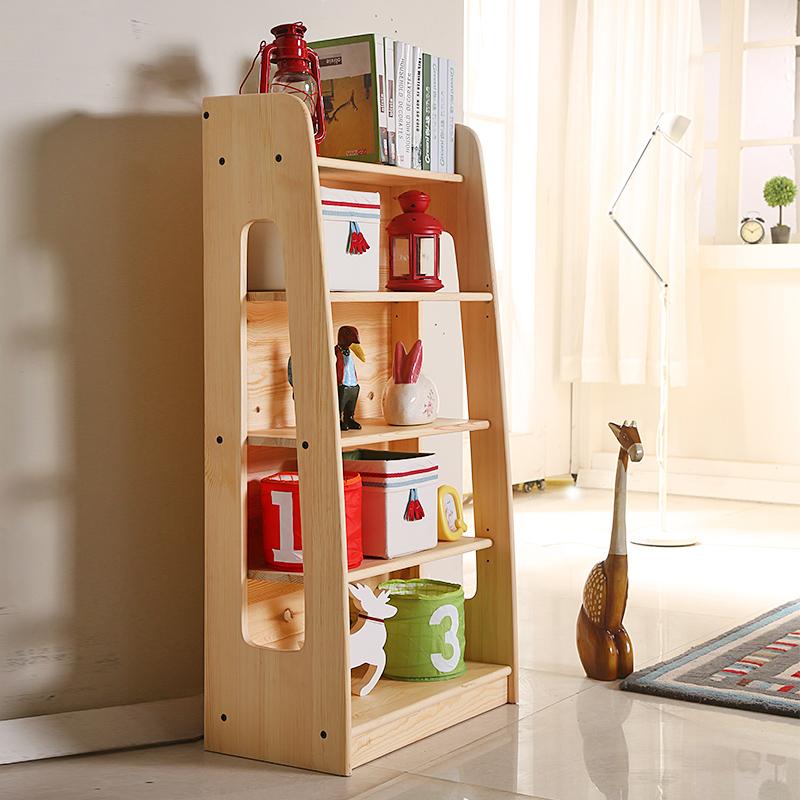 亲亲宝贝 客厅卧室实木货架 多层 实木置物架 陈列架
