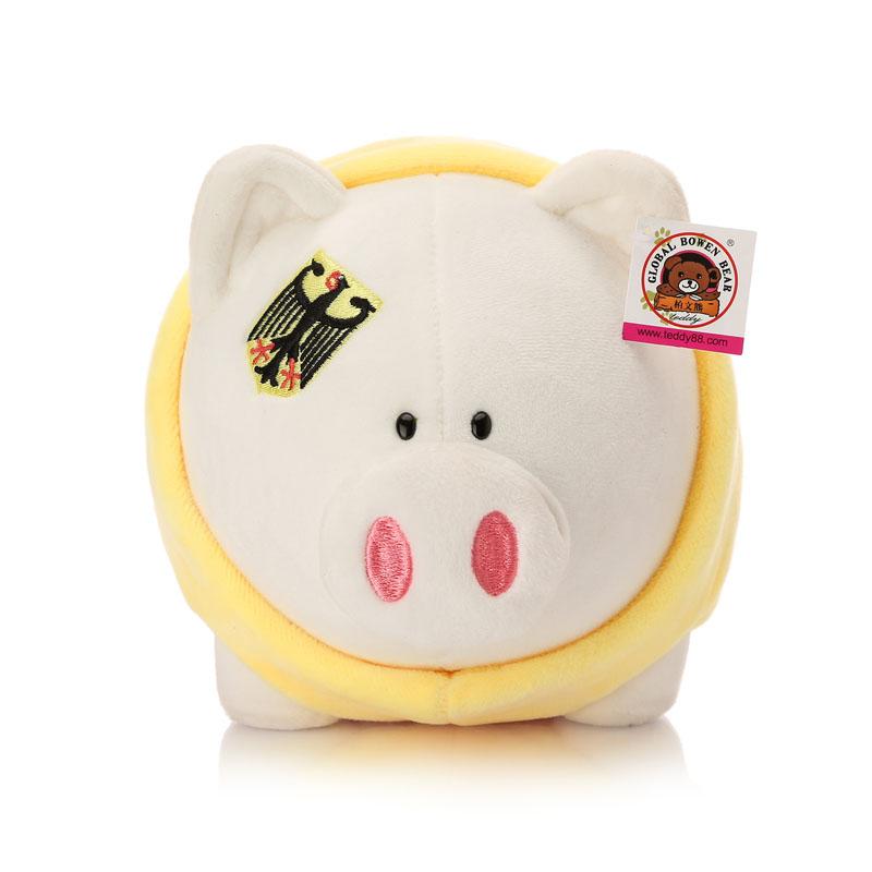 柏文熊 可爱 小圆猪 毛绒玩具 创意小猪猪公仔 男女生日礼物 居家摆件图片