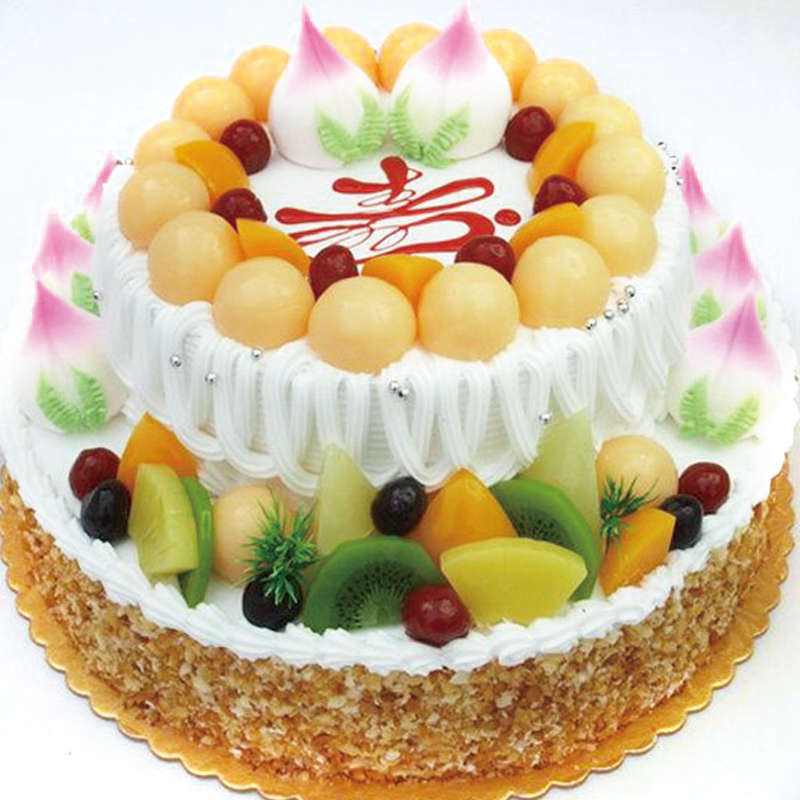 中礼鲜花速递 蛋糕 生日蛋糕 奶油水果蛋糕 生日礼物