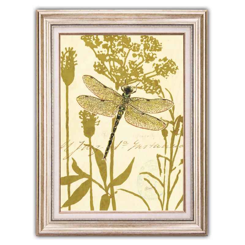 森朴 现代装饰画美式乡村田园风格挂画 餐厅卧室床头墙画花卉蝴蝶壁画