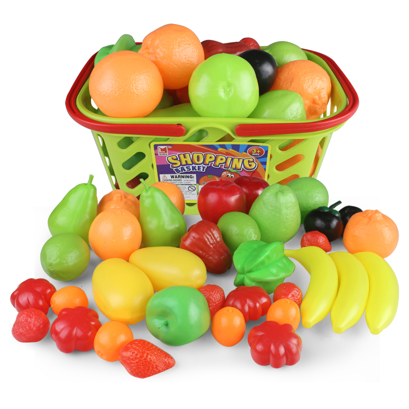 中盛过家家玩具 儿童仿真水果蔬菜玩具 幼儿园教学专用 水果蔬菜认知图片