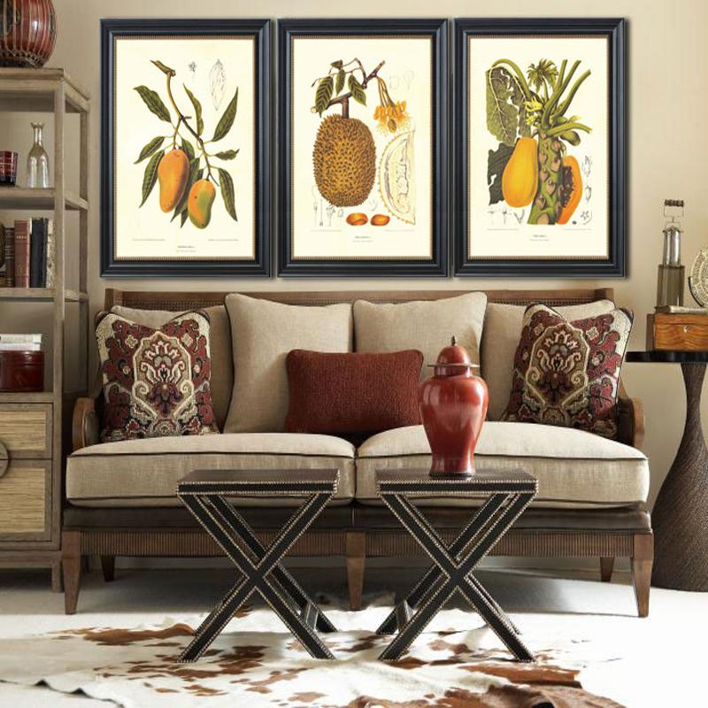 皇室珍品蒙娜丽莎装饰画美式餐厅挂画水果壁画客厅现代简约背景墙画玄图片