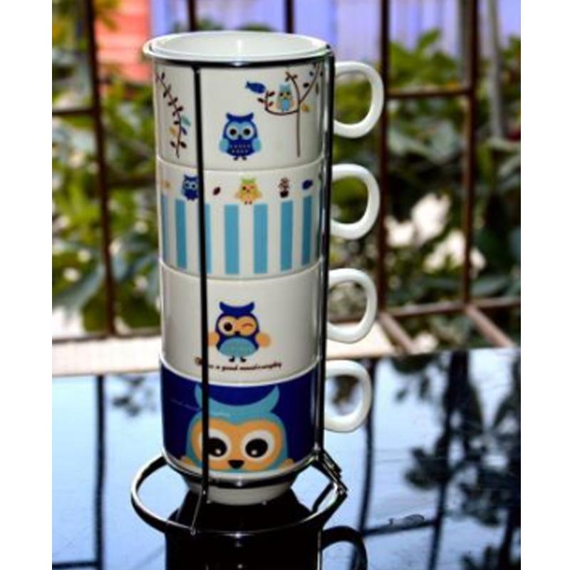 微品多创意杯子套装水杯套装马克杯套杯陶瓷3d星巴克咖啡杯创意可爱