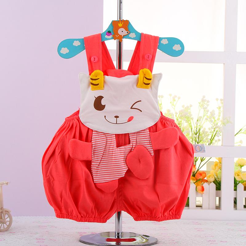 婴儿衣服动物造型个性可爱连体哈衣爬服小羊可爱造型衣3226 红色 90