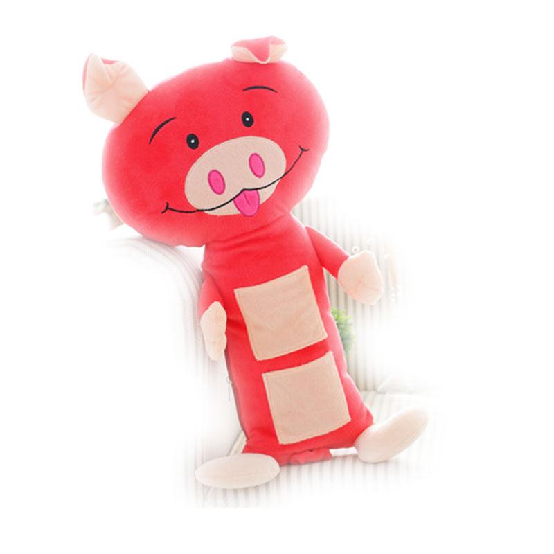 玩具汽车安全带套护肩套安全带靠枕可爱的动物靠垫儿童抱枕 猪
