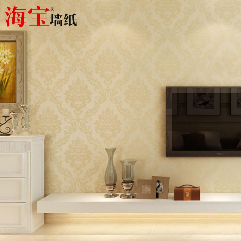 海宝先生 环保无纺布高档欧式墙纸 客厅卧室电视背景墙满铺壁纸hbo-w图片