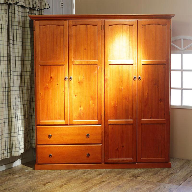 唐古 全实木衣柜美式乡村组合衣柜 欧式衣柜 定制实木图片