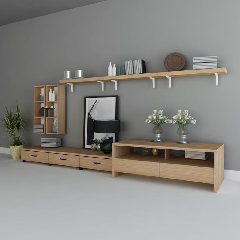 特价一字隔板壁挂置物架搁板书架墙板装饰板层板 梨木